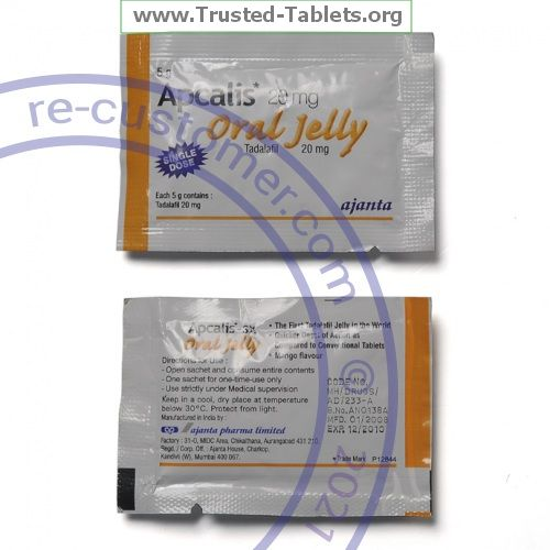 Trustedtabs Pharmacy. apcalis-oral-jelly tablets. Uses, Side Effects, Interactions, Pictures